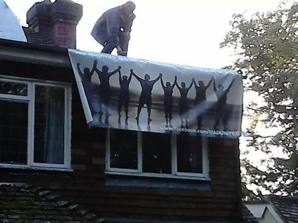 EPS Dads' activist sets up camp on Chris Grayling's roof